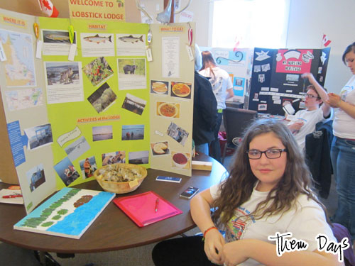 Heritage project on Lobstick Lodge.  This project also won something, but I can't remember what!  (Sorry.)  But I would definitely award this student with Yummiest Treats.