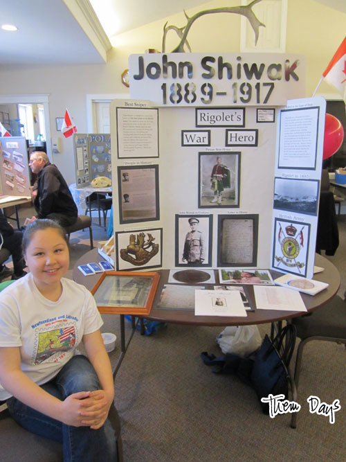 A Rigolet entry into the Heritage Fair.  Haley later won Best Use of Archival Materials.